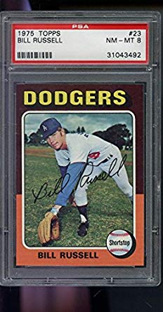 Bill Russell PSA GRADED 8 (Baseball Card) 1975 Topps Minis - [Base] #23