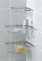 Shower shelves buy shower shelves bathroom shelves metal for Perchas bano sin taladro