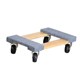 Heavy duty 4 wheels dolly wood moving wheel dolly