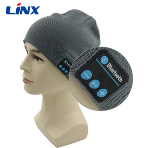Soft and Warm Hat Wireless Beanie with Bluetooth Cap Speaker Micro Headphone
