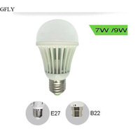 6w/9w high power dome bulb 40W/60w incandescent light bulbs replacement with 3 year warranty