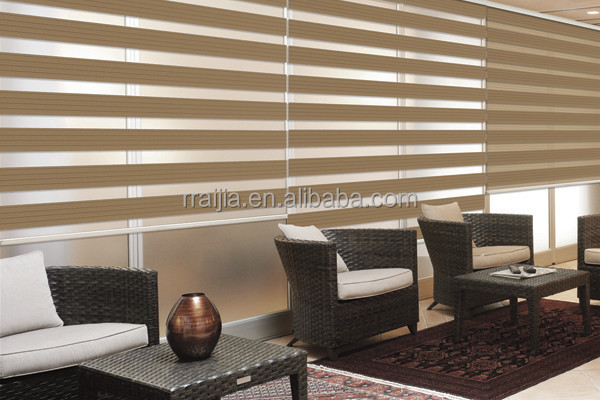 Hotel Blackout Panel Track Blinds Zebra Roller