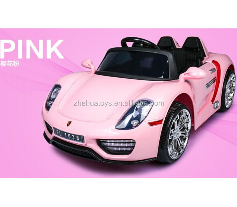 Lovely Pink Color Ride On Car For Girls 12volt Kids