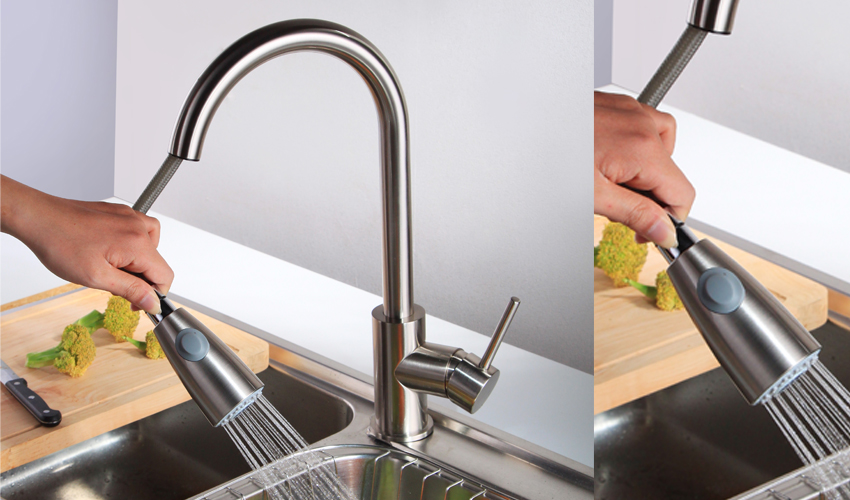 New Style Stainless Steel Fashion Pull Out Sprayer Kitchen Taps Sink Faucet Kitchen Faucet