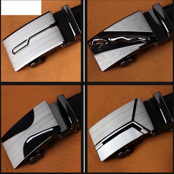 2018 Échantillon gratuit Ceinture À Cliquet pour hommes en cuir véritable ceinture  homme avec Boucle Automatique 137eb4690c4