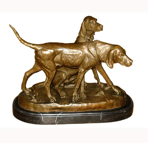 Small Bronze Dog Statues