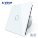 Livolo 220V White Dimmer and Remote Touch Wall Light Switch VL-C701DR-11