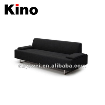 Leisure Black Chesterfield Modern Fabric Sofa For Living Room