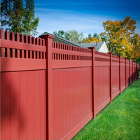Manufacturer in China High Quality Cheap Customized Private Fence 100% Vinyl PVC Privacy Fencing