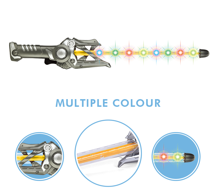 Hot sale electric led flashing stick sword plastic musical kids space toys
