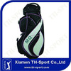 Customized golf bag black white PU staff bag