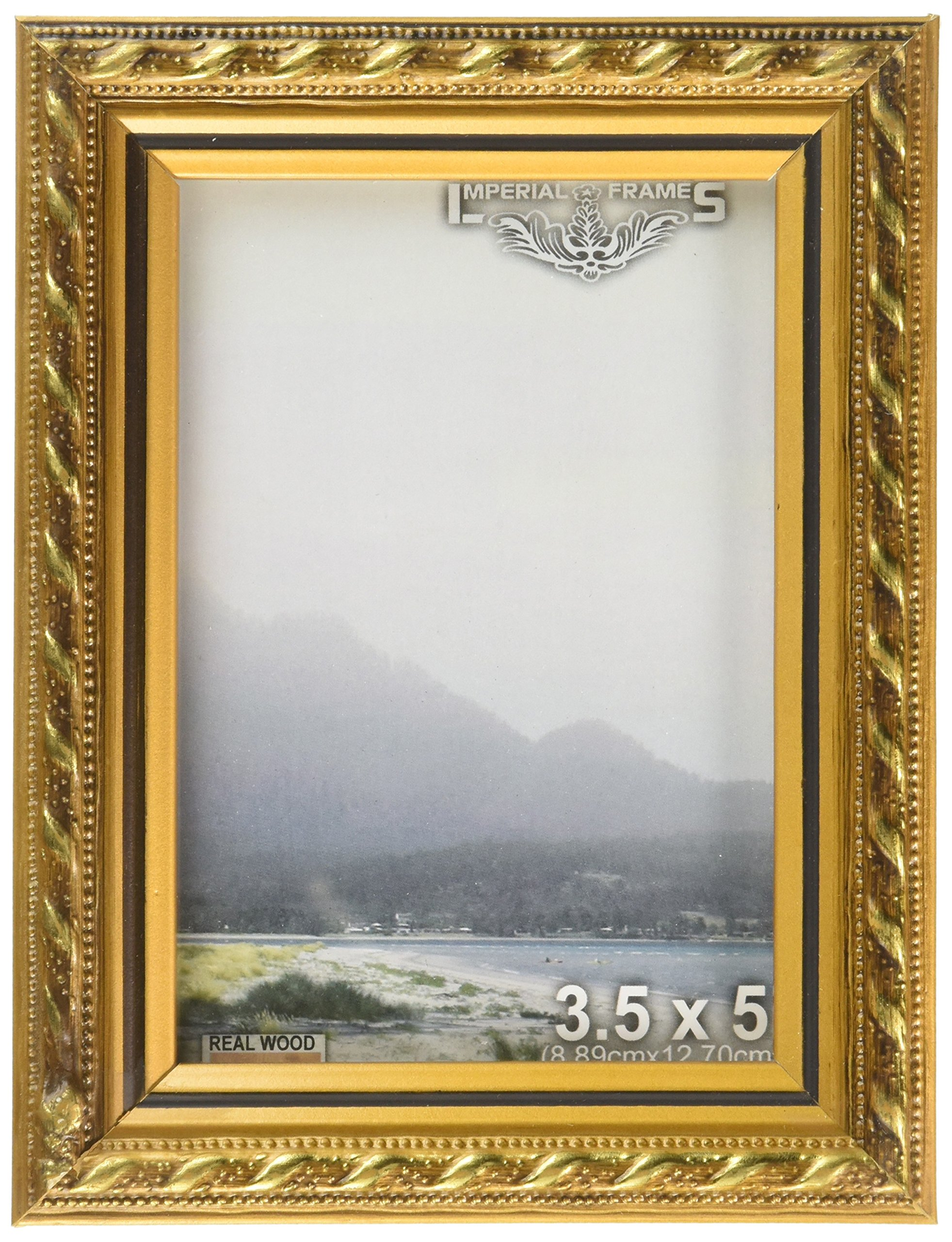 MyFrameStore Imperial Frames 16 by 20-Inch/20 by 16-Inch Picture/Photo Frame, Thin Fancy Rope Shaped Gold Molding