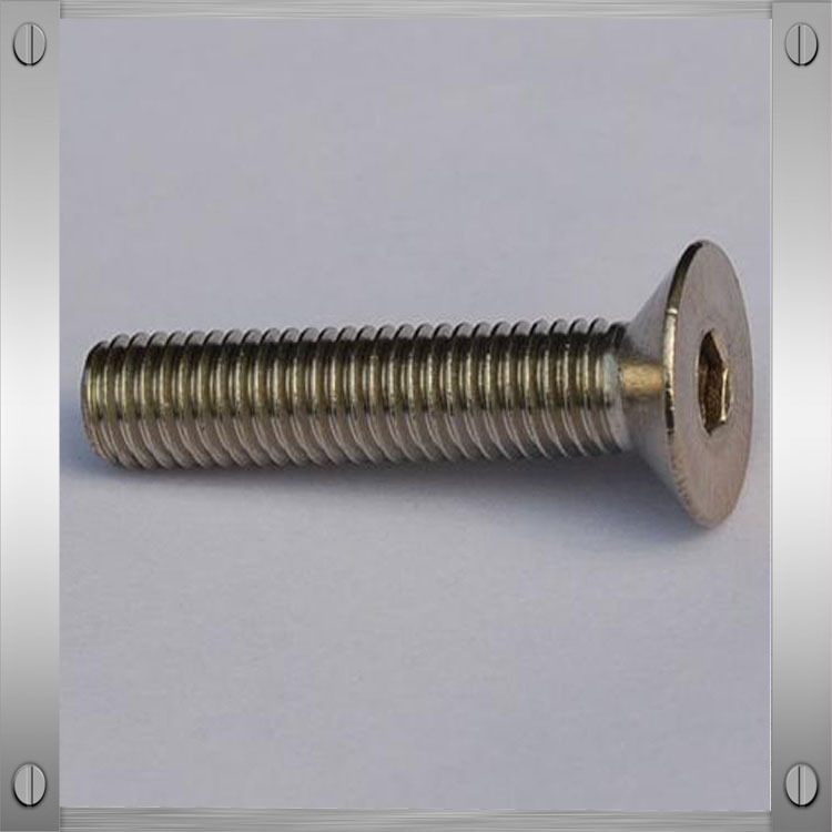 Hot sale hex socket flat head bolt/flat head countersunk bolts