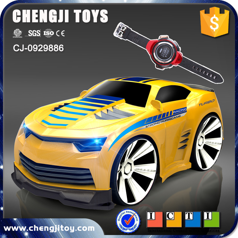 New item electric vehicle voice control car toy with light and music