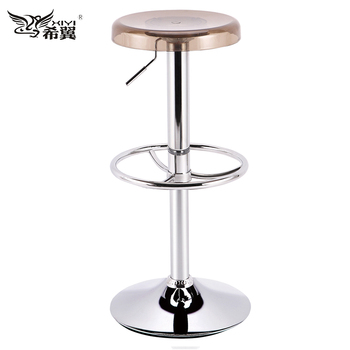 Model Chair Leisurel Ways Outdoor High Quality Plastic Clear Bar Chairs  Backless Stools