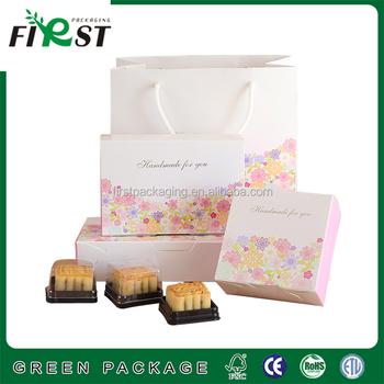 Custom Wedding Cake Box Design Paper Moon Swiss Roll Packaging