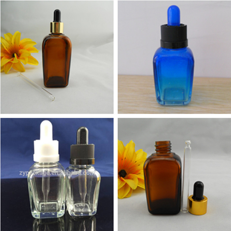 Ml blue frosted glass bottle with aluminum spray cap for