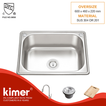 24inch single bowl stainless steel kitchen sink in bangladesh for sale