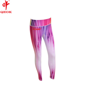 China Manufacturer ladies tight fit tranfix sublimation yoga pants, European lycra cheerleading uniform, girls baselayer bottom