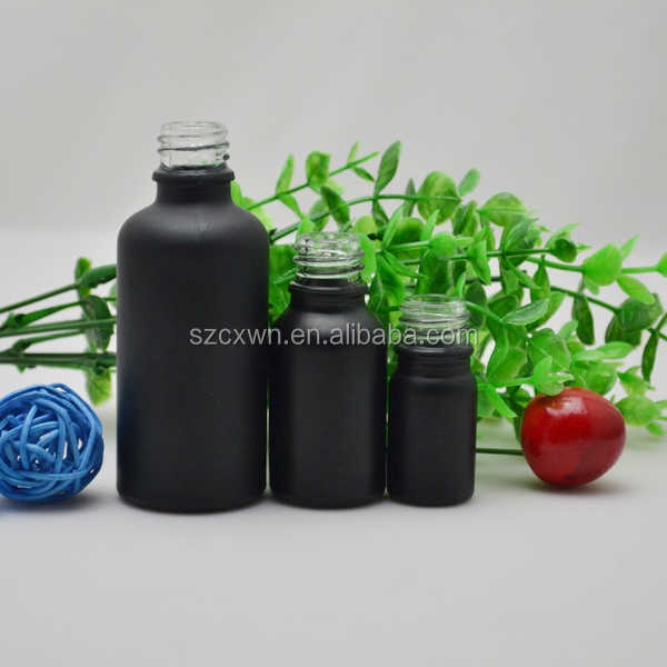 wholesale spray bottles 2015 new black frosted glass dropper bottle for e-cig and essential oil