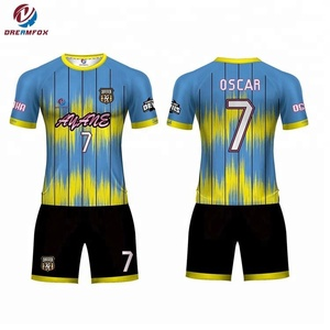 2018 Cheap custom Used Wholesale Full set sublimation Soccer Uniforms From China For Team