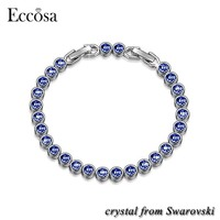 Eccosa Blue Ocean New Arrivals 2018 Womens High Quality Bracelet With Crystals From Swarovski