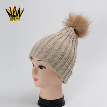 2017 Top Sale Hangzhou Supplier Custom Knitted Winter Hats with Ball on Top 9ceff53108c