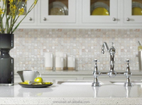square shape white triange shell mosaic tile for kitchen room