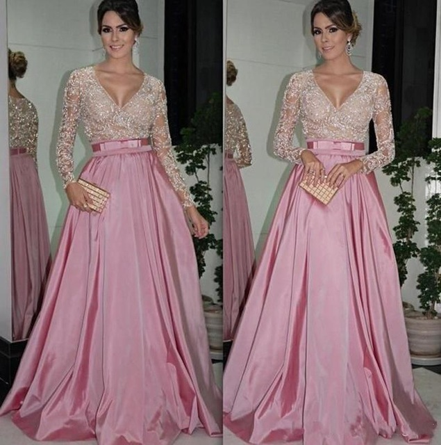 994b7837bcfa Compare Prices on Arabic Silk Dress- Online Shopping Buy Low Price ... Sexy  Long Sleeve Lace Eevening Dress Sequin Dubai Style A Line Formal Arabic  Evening ...