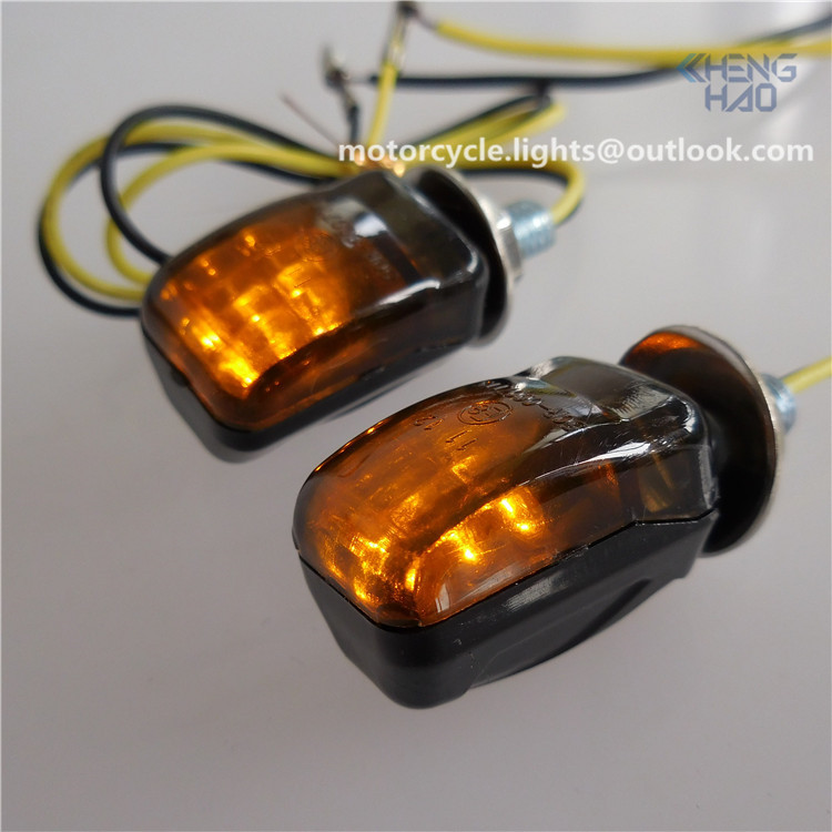 CH-1021 Chenghao ECE mini motorcycle led turn signals smoke lens led indicators amber lighting for electric vehicles