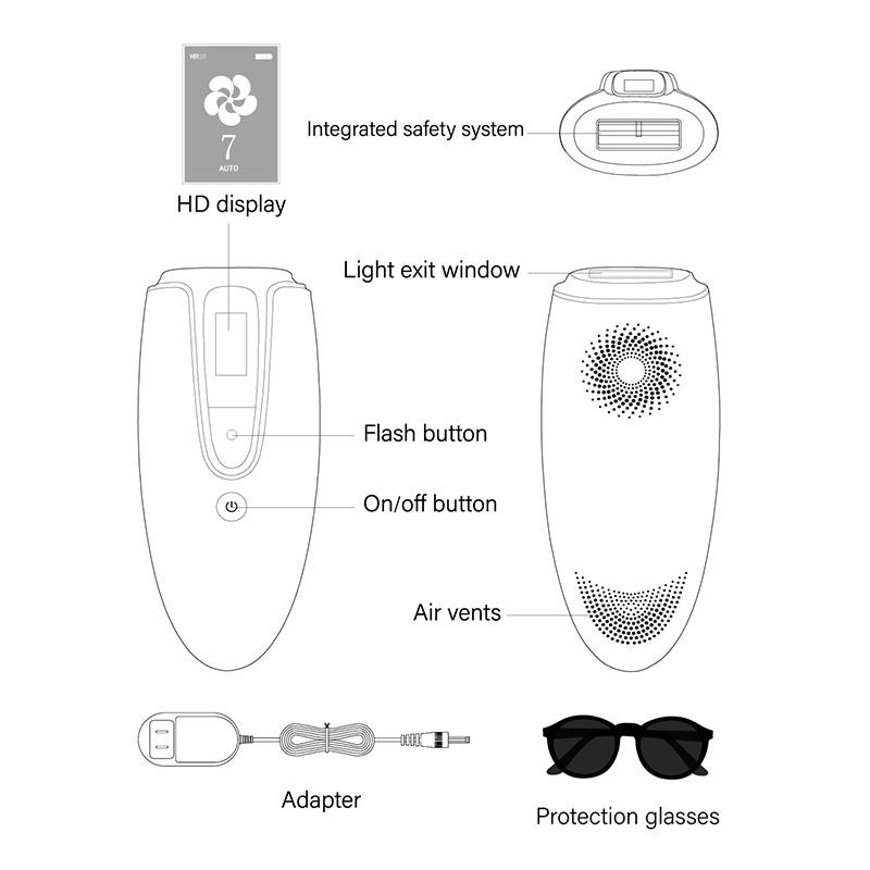 IPL 300000+ lamp China beauty device mini IPL skin rejuvenation hair removal