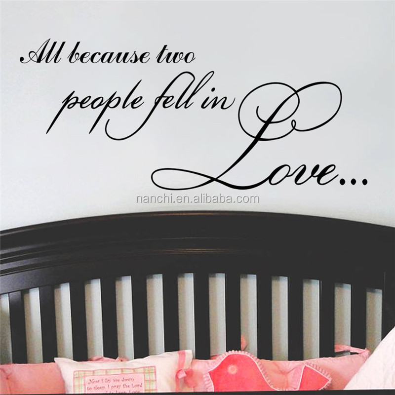 romantic love saying wall decals for kids home decorative children room bedroom wall sticker waterproof removable mural