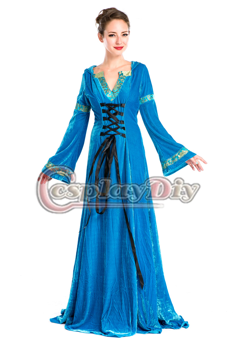Get Quotations · 2015 New Blue European Royal Vintage Medieval Renaissance  Victorian Ball Gown Fancy Dress Halloween Cosplay Costume ceb810ec88af