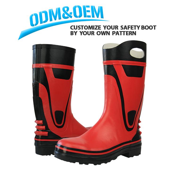 لا الدانتيل مقاوم للماء مكافحة سحق المهنية حذاء برقبة للعمل الرجال