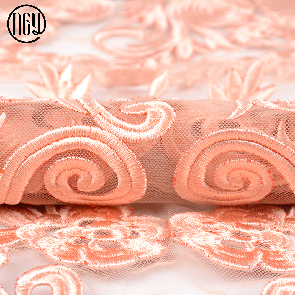 China factory designer luxury poly sheer bubble embroidered fabric for dress