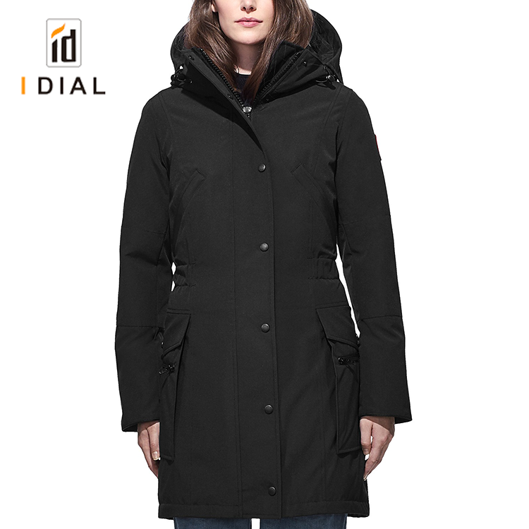 Women Overcoat Hooded Long Sleeve Coat Jacket Windbreaker Handsome Outwear