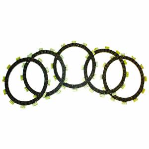 Caltric CLUTCH FRICTION PLATE Fits SUZUKI DR125 DR-125 DR 125 1982-1984 1986-88 MOTORCYCLE 5-PLATES