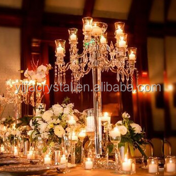 crystal wedding candelabra centerpiece hot sell crystal candelabra with flower bowl