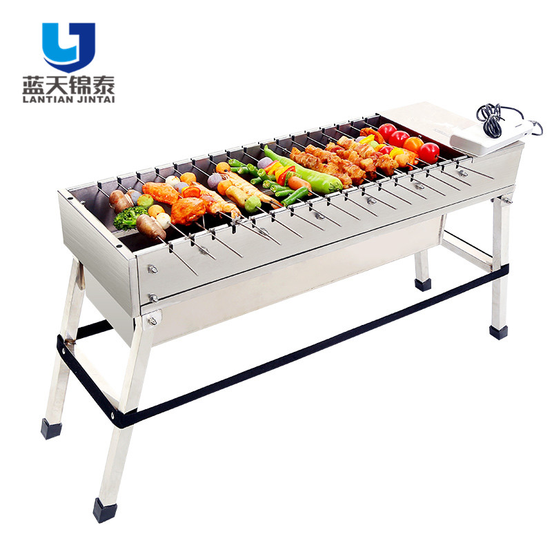 Outdoor Camping Picknick Usb-poort Barbecue Gebruikt Roterende Bbq Japanse Houtskool Grill