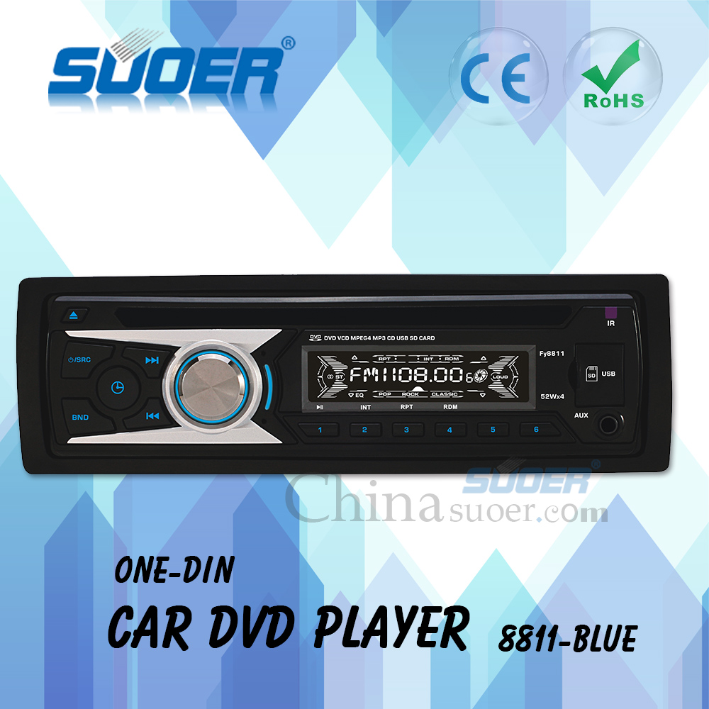 Suoer Factory Price 1 din Car CD DVD Radio Player with Detachable Panel