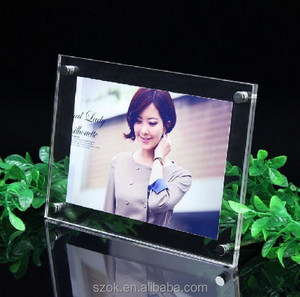 hot sale different shape naked simple girl acrylic photo frame