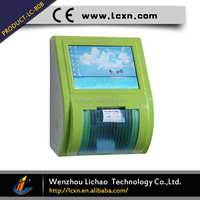 Factory supply new design 10inch touch screen customer flow wireless queue management number ticket kiosk for bank and hospital