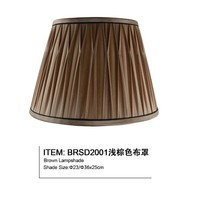 American brown antique dome hot-sell custom fabric lampshade for table lamp and pendant lamp