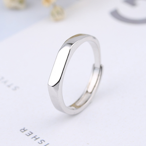 fashion jewelry silver 925 ring personalized custom blank bar engraved name ring for lovers