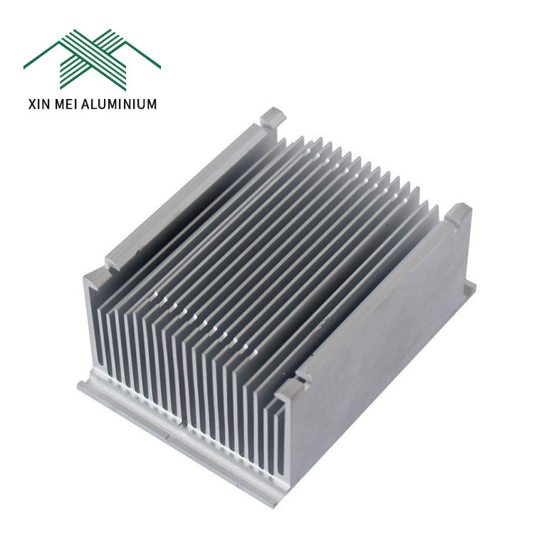 transistor thermal electronic large metal aluminium folded fin bonded fin heat sink
