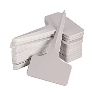 TOOGOO(R) 100/200/300/500 pcs 6 x10cm Plastic Plant T-type Tags Markers Nursery Garden Labels Gray (200pcs)