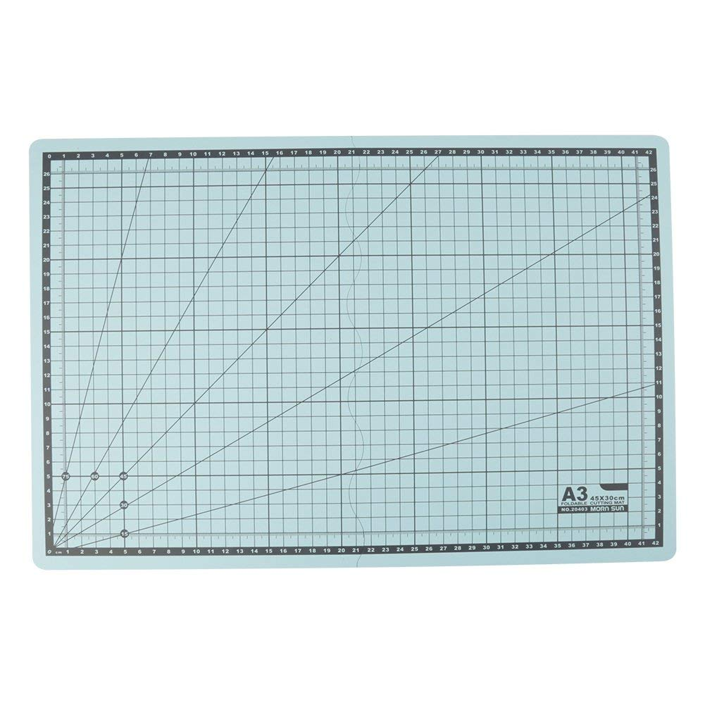 A3 Cutting Mat Foldable PVC Grid Lines Cutting Board Self-Healing Cut Mat DIY Craft Tool for Writing, Painting, Cutting and Carving