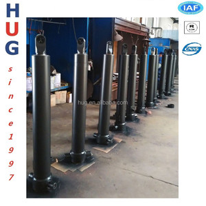 China supplier Hyva type telescopic hydraulic cylinder for hydraulic tipping system