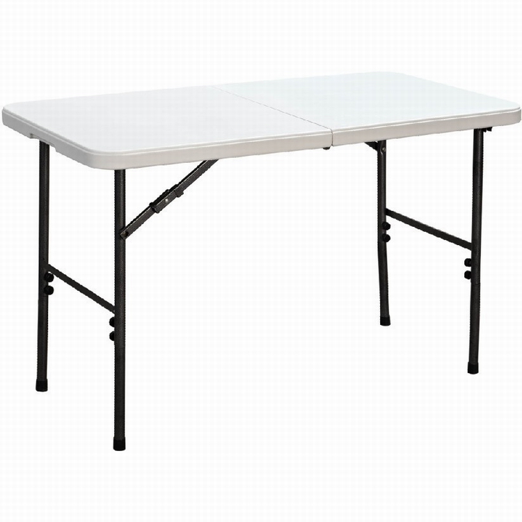 4 Ft Plastic Picnic Table White And Chair Durable Outdoor Party