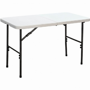 4 Ft Plastic Picnic Table White And Chair Durable Plastic Outdoor Party  Table And Chair